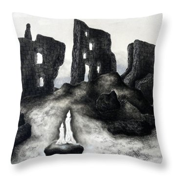 Rock Of The Candle Throw Pillow