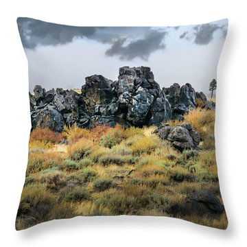 Throw Pillow featuring the photograph Rock Outcrop by Frank Wilson