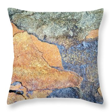 Throw Pillow featuring the photograph Rock Pattern by Christina Rollo