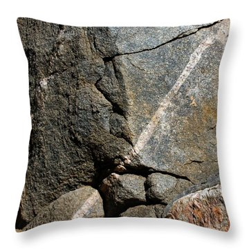 Rock Patterns-signed-#9753 Throw Pillow by J L Woody Wooden