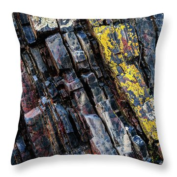 Throw Pillow featuring the photograph Rock Pattern Sc02 by Werner Padarin