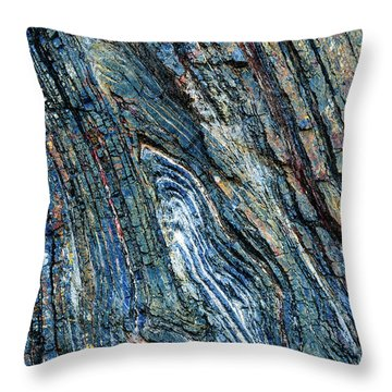 Throw Pillow featuring the photograph Rock Pattern Sc03 by Werner Padarin