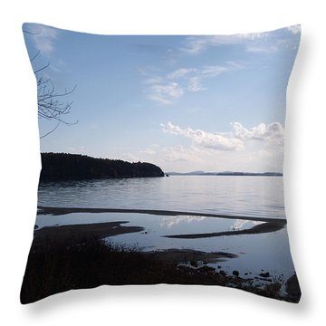 Throw Pillow featuring the photograph Rock Point North View Vertical by Felipe Adan Lerma