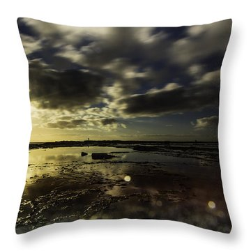Throw Pillow featuring the photograph Rock Pool Sunrise by Chris Cousins