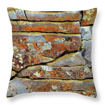 Throw Pillow featuring the photograph Rock Puzzle by Michele Penner