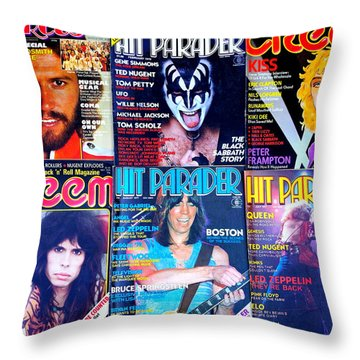 Rock Rags 1 Throw Pillow