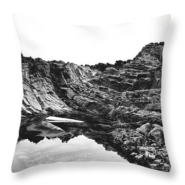 Throw Pillow featuring the photograph Rock by Rebecca Harman
