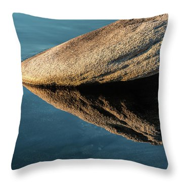 Rock Reflection Throw Pillow