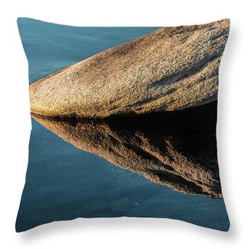 Rock Reflection Throw Pillow
