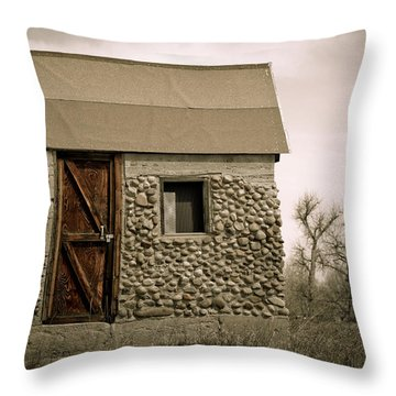 Rock Shed 2 Throw Pillow by Marilyn Hunt