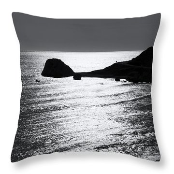 Rock Silhouette Throw Pillow by Mike Santis
