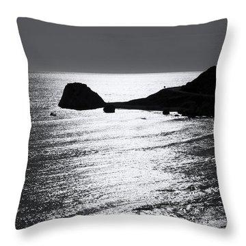 Rock Silhouette Throw Pillow