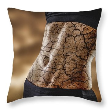 Rock Solid Abs Throw Pillow by Scott Meyer
