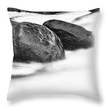 Throw Pillow featuring the photograph Rock Solid by Larry Ricker