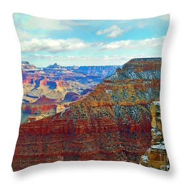 Throw Pillow featuring the photograph Rock Solid by Roberta Byram