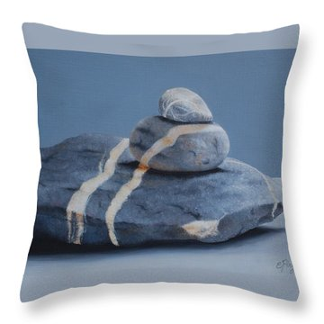 Rock Stack Throw Pillow