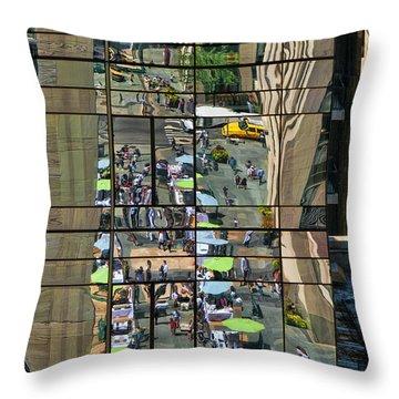 Rock Street Fair Throw Pillow