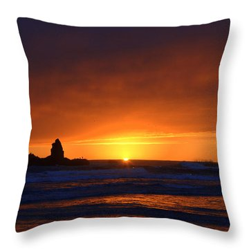 Rock Sunset Throw Pillow