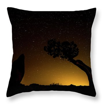 Rock, Tree, Friends Throw Pillow