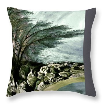 Throw Pillow featuring the photograph Rock Tunnel by Pennie  McCracken