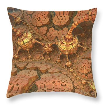 Rock Walkers Throw Pillow