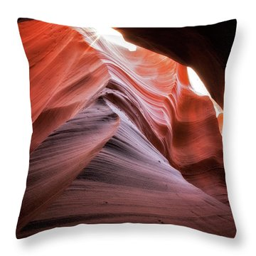 Rock Waves Throw Pillow by Nicki Frates
