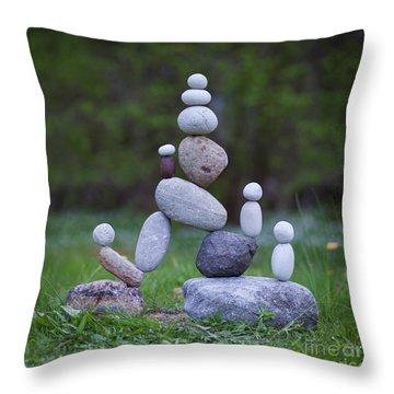 Rock Yoga Throw Pillow
