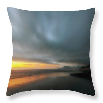 Rockaway Sunset Bliss Throw Pillow
