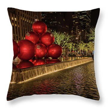 Rockefeller Center  Throw Pillow