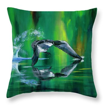 Rocket Feathers Throw Pillow