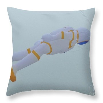 Rocket Man Kite Throw Pillow
