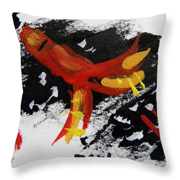 Rocket Man Throw Pillow by Mary Carol Williams