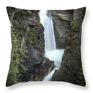 Rockies Waterfall Throw Pillow
