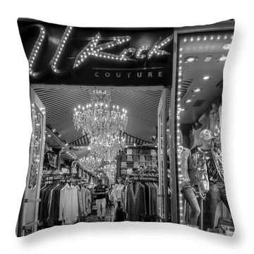 Throw Pillow featuring the photograph Rockin' Couture by Melinda Ledsome