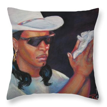 Zydeco Man Throw Pillow