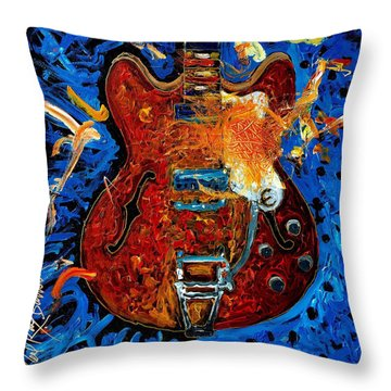 Rockin Epiphone Throw Pillow