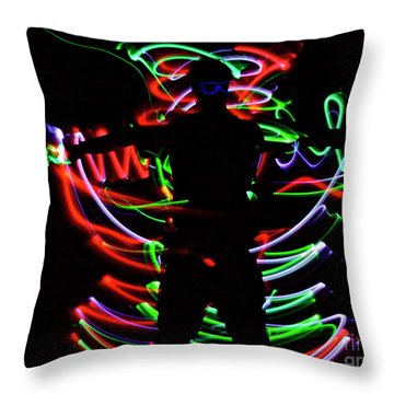 Rockin' In The Dead Of Night Throw Pillow