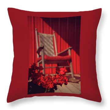 Throw Pillow featuring the photograph Rockin' Red by Jessica Brawley
