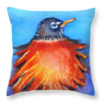 Rockin Robin Throw Pillow by Patricia Piffath