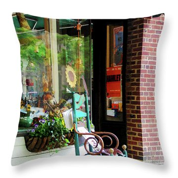 Rocking Chair By Boutique Throw Pillow by Susan Savad