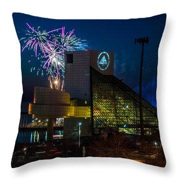 Rocking Fireworks Throw Pillow