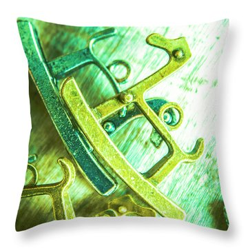 Rocking Horse Metal Toy Throw Pillow