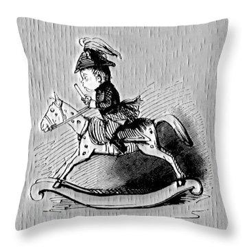 Throw Pillow featuring the digital art Rocking Horse by Pennie McCracken