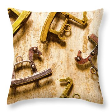 Rocking Horses Art Throw Pillow