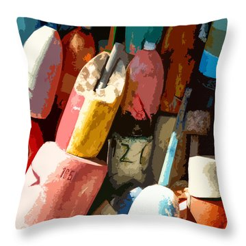 Rockport Buoys Throw Pillow