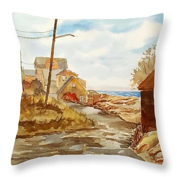 Rockport Coast Throw Pillow