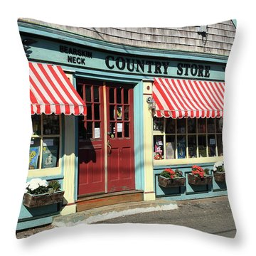 Rockport Country Store Throw Pillow