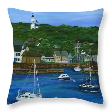 Rockport Dawning Throw Pillow by Michelle Joseph-Long