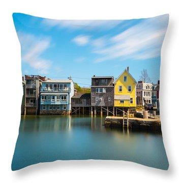 Rockport Dock Throw Pillow