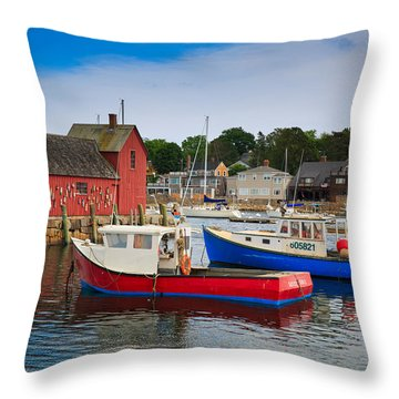 Rockport Harbor 2 Throw Pillow
